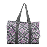NGIL All Purpose Organizer Medium Utility Tote Bag Purple Quatro Vine