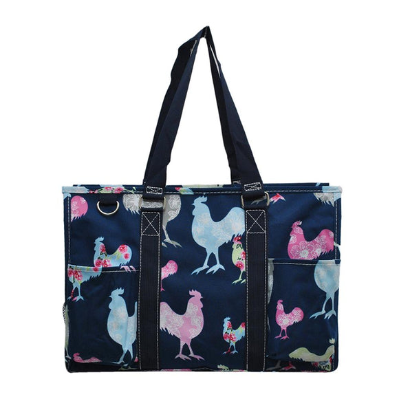 NGIL All Purpose Organizer Medium Utility Tote Bag Rooster Navy Blue