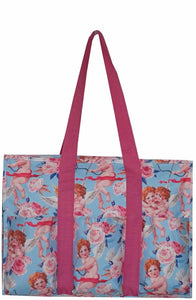 "EGFAS All Purpose 8 Pocket Organizer 18"" LARGE Utility Tote Bag Angel"