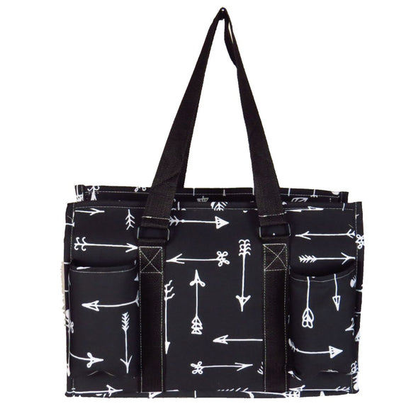 EGFAS All Purpose Organizer Medium Utility Tote Bag Arrow Black