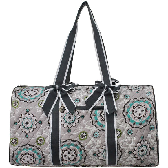 NGIL Quilted Cotton Large Duffle Bag Garden View Black