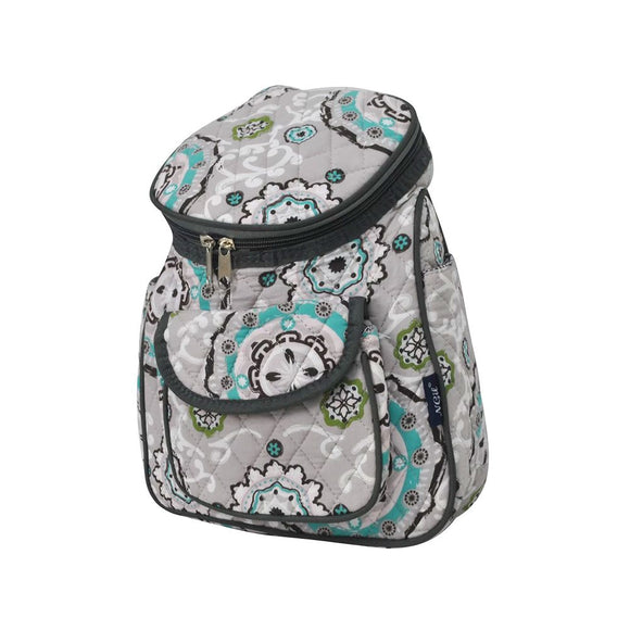 NGIL Quilted Cotton Backpack Purse Garden View Black