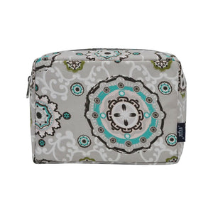 NGIL Large Travel Cosmetic Pouch Bag Garden View Grey