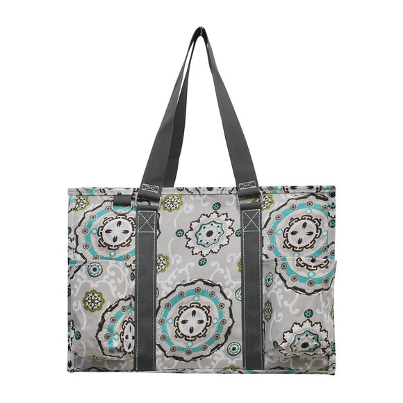 NGIL All Purpose Organizer Medium Utility Tote Bag Garden View Grey