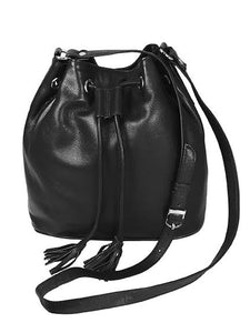 Pielino Leather Drawstring Crossbody Handbag