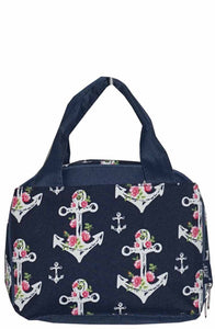 NGIL Insulated Lunch Bag Rose Anchor Navy Blue