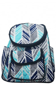 NGIL Quilted Cotton Backpack Purse Sassy Chic Navy
