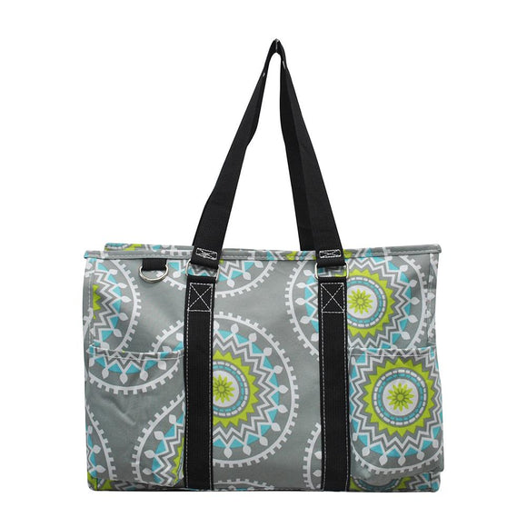 NGIL All Purpose Organizer Medium Utility Tote Bag Chic Garden Black