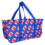 "EGFAS All Purpose Open Top 23"" Classic Extra Large Utility Tote Bag (Football Blue)"