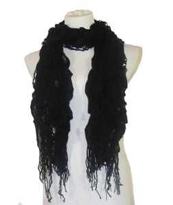 EGFAS Knitted Ruffle Scarf