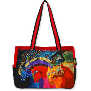 Laurel Burch Wild Horses of Fire Medium Tote