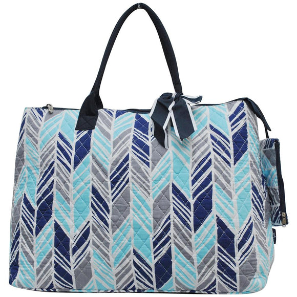 NGIL Extra Large Quilted Cotton Tote Bag Sassy Chic Navy