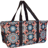 "EGFAS All Purpose Open Top 23"" Classic Extra Large Utility Tote Bag (Mandala Flower Brown)"