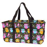 "EGFAS All Purpose Open Top 23"" Classic Extra Large Utility Tote Bag (Owl Black)"