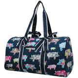 NGIL Quilted Cotton Large Duffle Bag Farmhouse Pig Navy