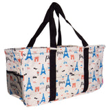 "EGFAS All Purpose Open Top 23"" Classic Extra Large Utility Tote Bag (Paris)"
