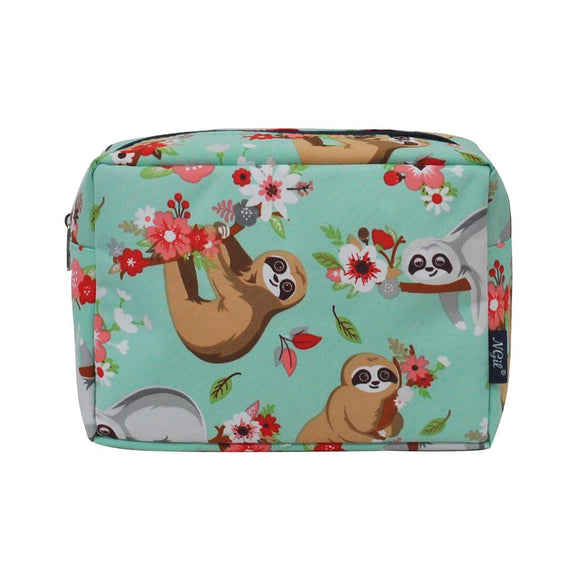 NGIL Large Travel Cosmetic Pouch Bag Sloth Black