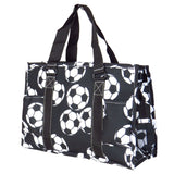 EGFAS All Purpose Organizer Medium Utility Tote Bag Soccer Black