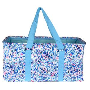 "EGFAS All Purpose Open Top 23"" Collapsible Extra Large Utility Tote Bag Floral Pattern"