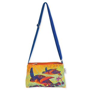 Guy Harvey Turtle Wave Crossbody Handbag Multi