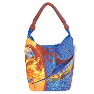Guy Harvey Marlin Palms Medium Scoop Hobo Bag 4592