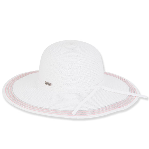 Sun N' Sand Women's Wide Brim Summer Beach Floppy Sun Hat 1585
