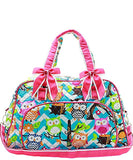NGIL Quilted Large Weekender Duffel Bag (Chevron Owl )
