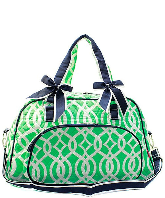 NGIL Quilted Large Weekender Duffel Bag (Vine)