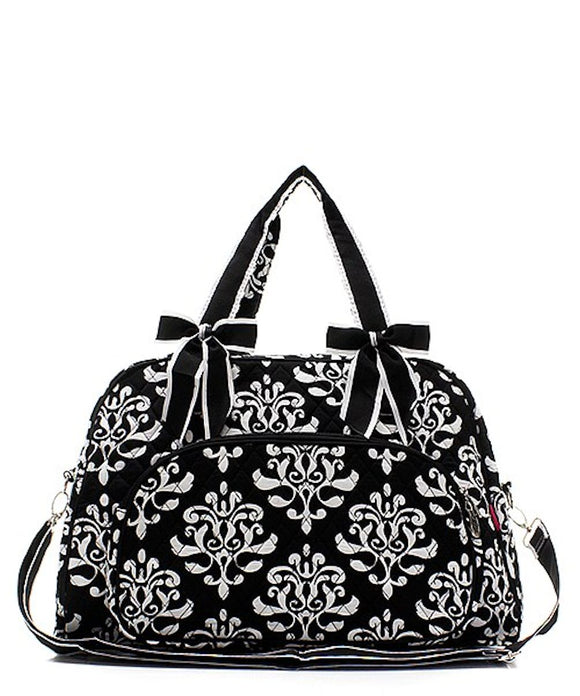 NGIL Quilted Large Weekender Duffel Bag (Bloom Damask)