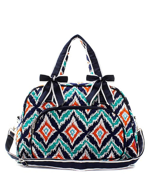 NGIL Quilted Large Weekender Duffel Bag (MZM Ikat)