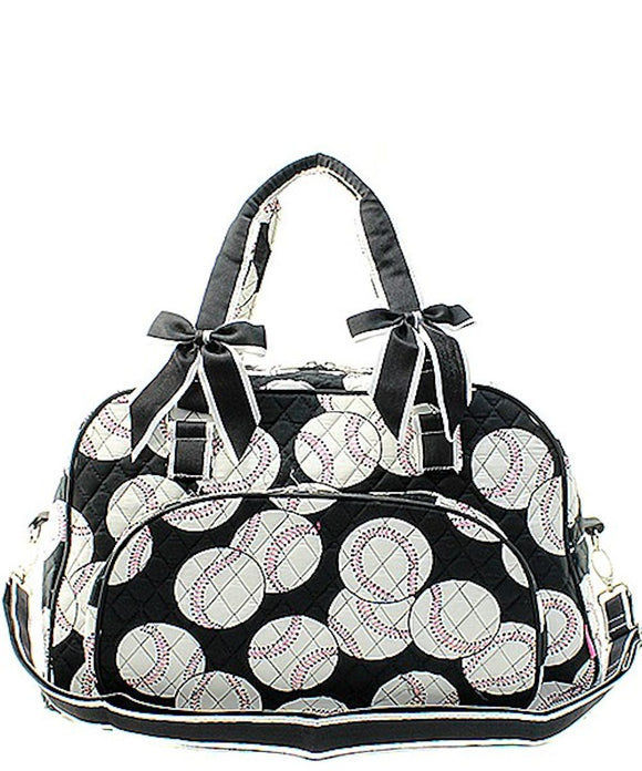 NGIL Quilted Large Weekender Duffel Bag (Baseball)