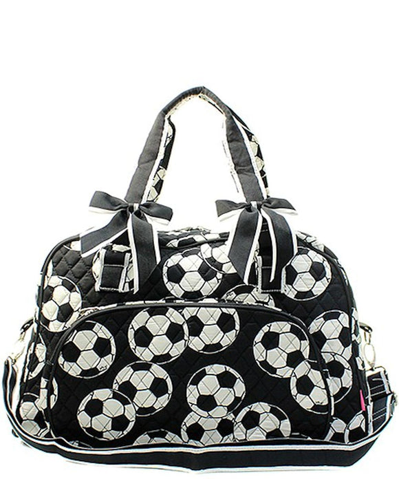 NGIL Quilted Large Weekender Duffel Bag (Soccer)