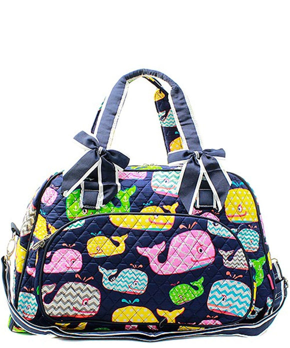 NGIL Quilted Large Weekender Duffel Bag (Whale)