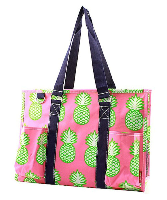 NGIL All Purpose Organizer Medium Utility Tote Bag Pineapple
