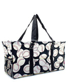 "NGIL All Purpose Open Top 23"" Classic Extra Large Utility Tote Bag Baseball Black"