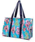 NGIL All Purpose Organizer Medium Utility Tote Bag Flip Flop Navy Blue
