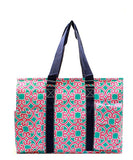 NGIL All Purpose Organizer Medium Utility Tote Bag Geo Turquoise Pink