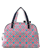NGIL Quilted Large Weekender Duffel Bag Geo Turquoise Pink
