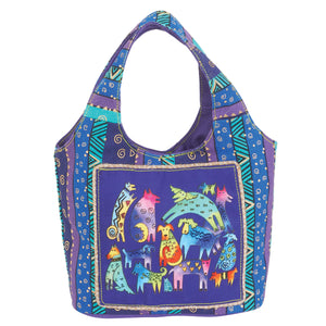 Laurel Burch Mythical Dogs Small Scoop Handbag