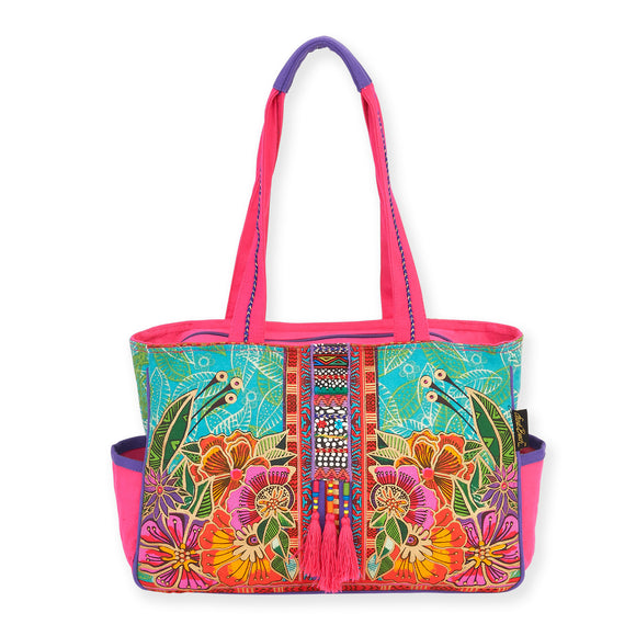 Laurel Burch Flora Medium Tote Handbag 5822