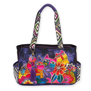 Laurel Burch Medium Tote Laurel's Garden