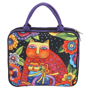 Laurel Burch Mother Daughter in Flower Travel Tote Cosmetic Bag