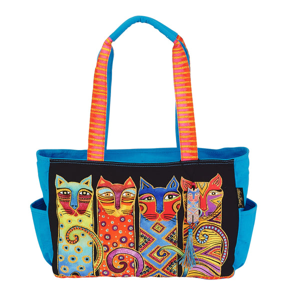 Laurel Burch Feline Clan Medium Cat Tote Handbag Purse