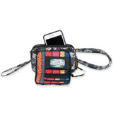Laurel Burch Quilted Cotton All in 1 Wallet Organizer Wristlet Crossbody Bag