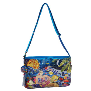 Laurel Burch Ocean Song Foiled Medium Crossbody Bag
