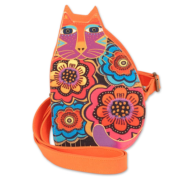 Laurel Burch Feline Family Cut Out Crossbody 6554 Orange