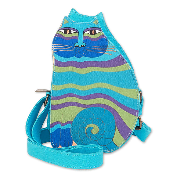 Laurel Burch Feline Family Cut Out Crossbody 6554 Turquoise