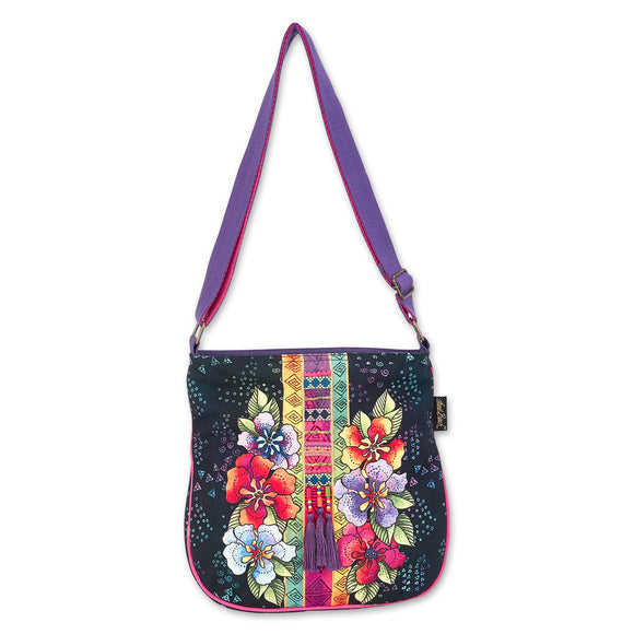 Laurel Burch Women's Floral Stamped Crossbody Bag
