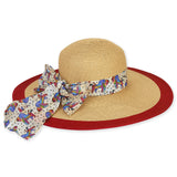 Laurel Burch Paper Braid Hat with Classic Scarf Trim