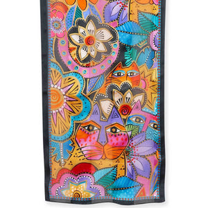Laurel Burch Womens Laurels Garden Scarf